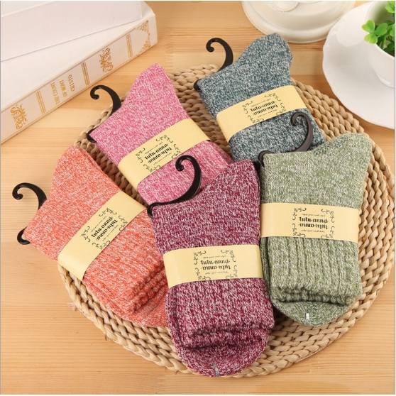 655f57b3cd21a ProductImage. ProductImage. Woman Fashion Retro Festival Socks Warm  Cashmere Soft Wool Cotton Thicken Socks