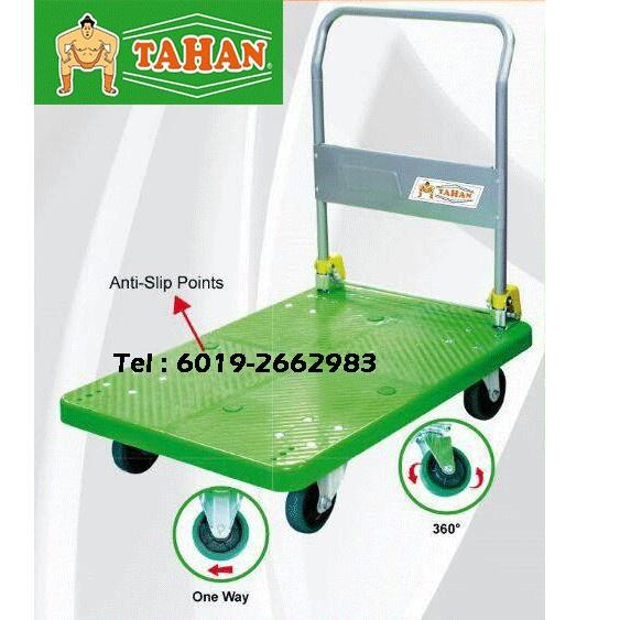 High Quality TAHAN 150kg Foldable PVC Platform Handtruck