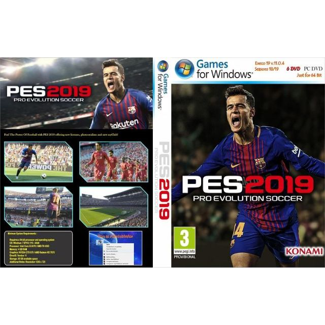 [AAM] Pro Evolution Soccer 2019 ( PES 2019 ) PC Games DVD Disc
