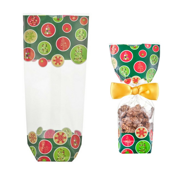 Deltasacs, Cookie Bag, New Year & Christmas, Green Trees, 10 pcs
