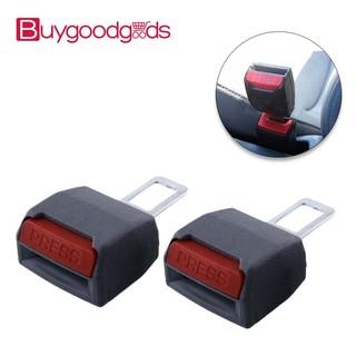 2Pcs Universal Car Safty Seat Belt Buckles Alarm Bleep Stopper Canceller Clip Ye