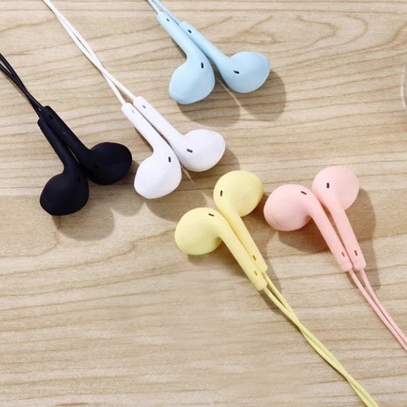 Tch Macaron Color Wired Mobile Phone Headset In Ear U19 Universal Headset 1 2m Music Headset Shopee Malaysia