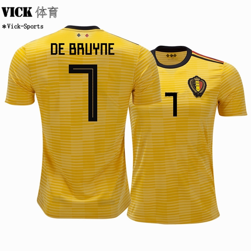 NIke Top Quality Belgium De Bruyne No.7 2018 World Cup Away Football Jersey   de47c699a