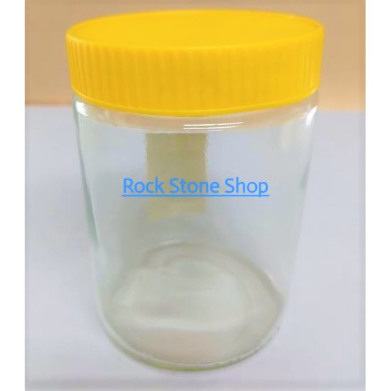 435ml Round Glass Jar Bottle Storage Container For Sweet Sambal Jam Honey with Plastic Lid | Balang Kaca Botol | 玻璃小罐子