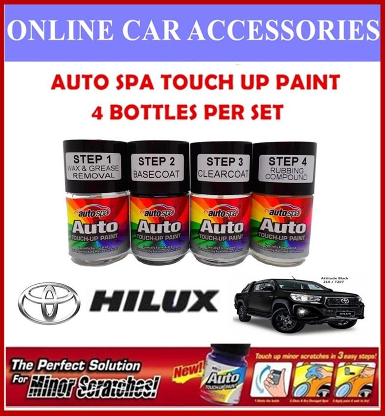 TOYOTA HILUX Original Touch Up Paint - AUTOSPA Touch Up Combo Set (4 Bottles Per Set)