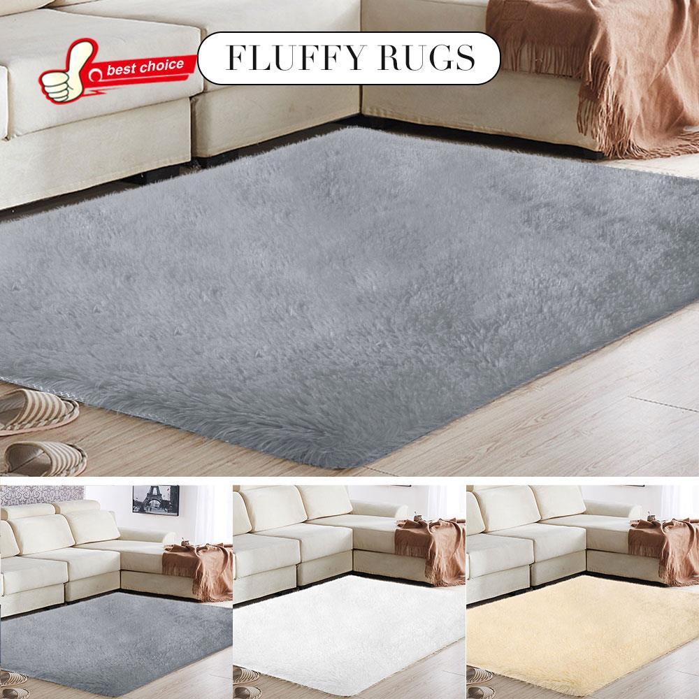 Super Polyester Fiber Fluffy Rugs Home Sofa Decoration Floor Interior Design Ideas Clesiryabchikinfo