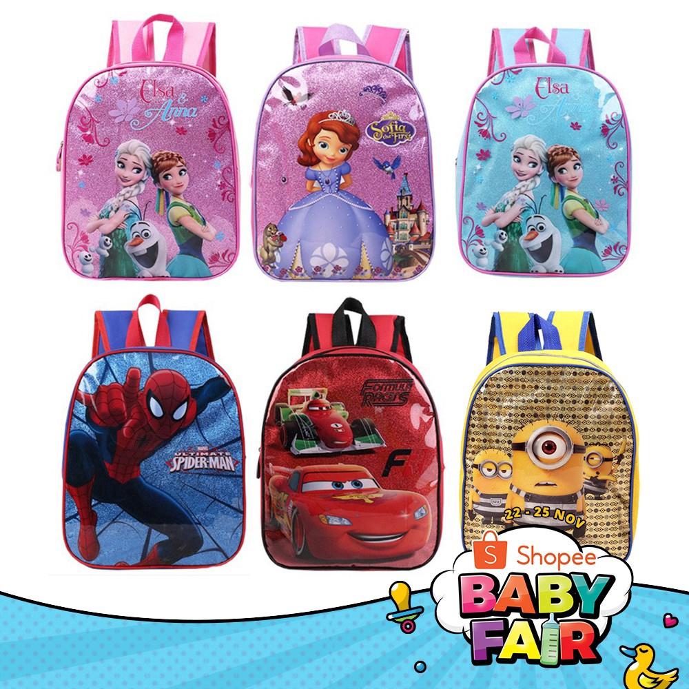 Spider-man Cartoon Bag Eco Printed Bag Drawstring Backpack Kids Red School Bag