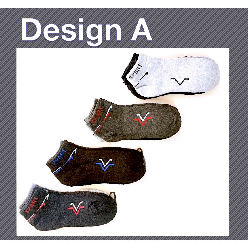 Sports Short Thick Comfortable Casual Unisex Cotton Low Cut Socks Star Design