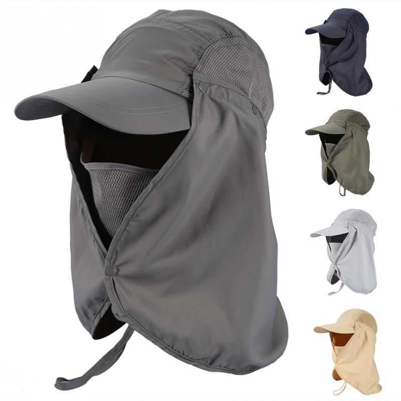 1a3c0115c9224 Outdoor Fishing Hiking Hunting Ear Face Flap Neck Cover Sun Protection Hat  Cap