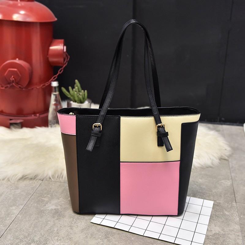 b306b167197a Fashion stitching handbags new wild Korean version of the shoulder casual  bag