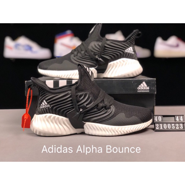 fb0c73a37a6ea ADIDAS ALPHA BOUNCE Premium Black