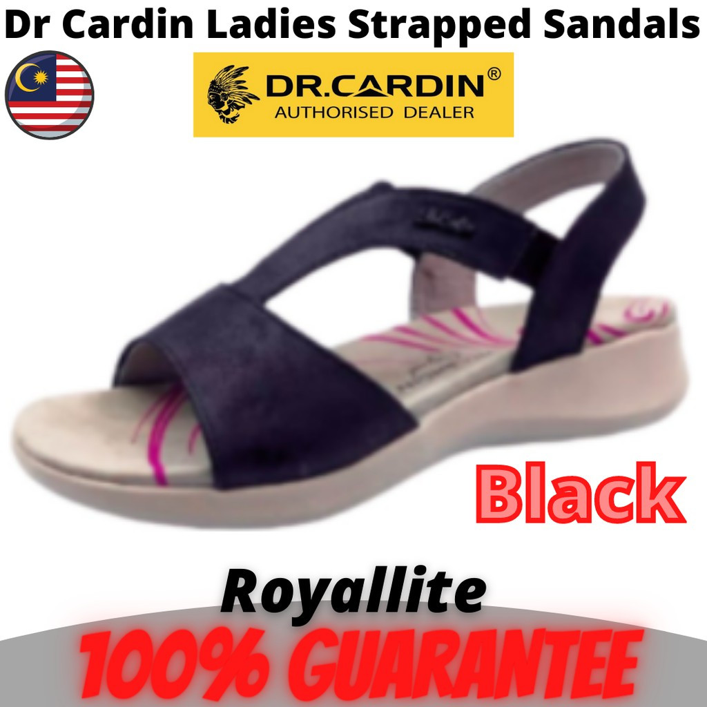 Dr Cardin Ladies Strapped Sandals (8917) Black & Red
