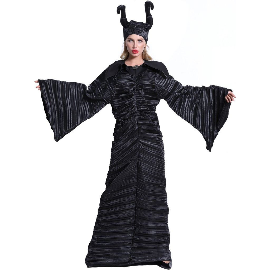 Costume Halloween 3xl.M 3xl Big Size European And American Halloween Costumes Sleeping Magic Dark Witch Cow Horn Costume Uniforms Shopee Malaysia