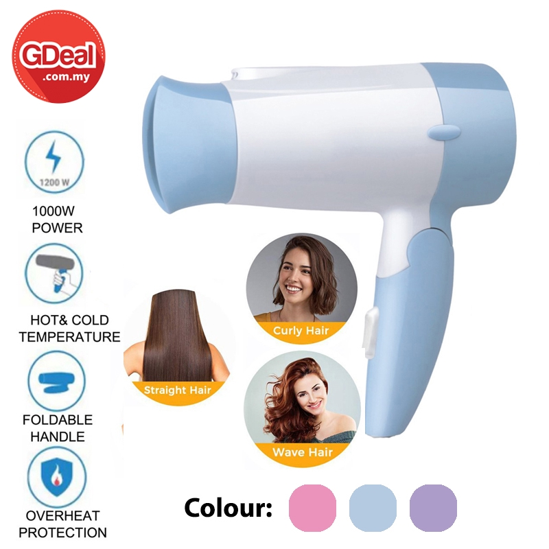 GDeal Professional Salon Women Compact Hair Dryer Hot And Cold Mini Portable Hair Blower