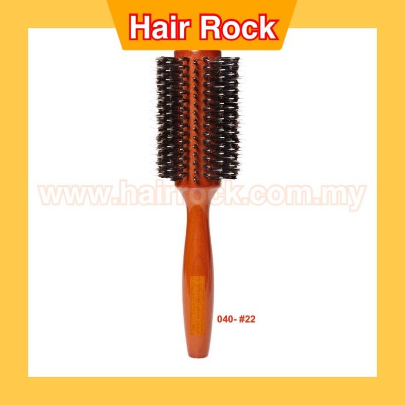 NEKPRO Roll Porcupine Round Brush With Non-slip Wood Handle  Large(040)