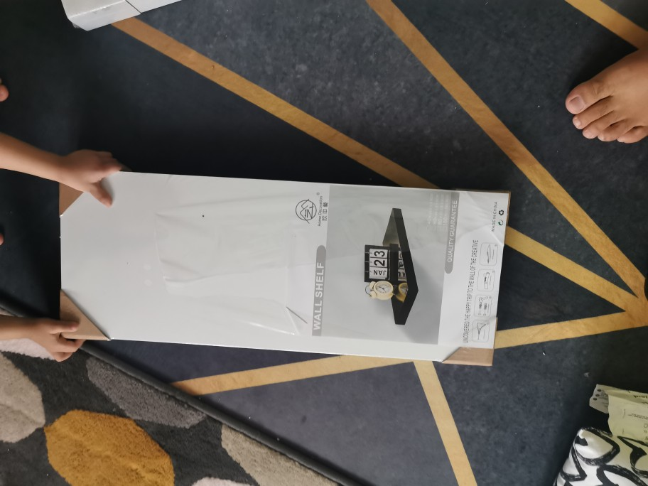 DIY FLOATING WALL SHELF 60CM BLACK CHOCOLATE WHITE COLORS i