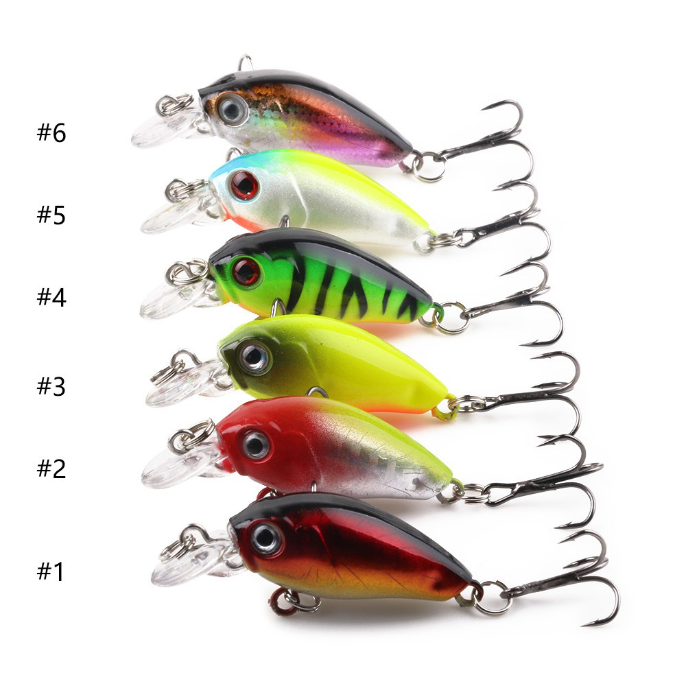 Practical 5Pcs//set Fishing Lures 4.5cm//4g Bass CrankBait Crank Bait Tackle Hooks