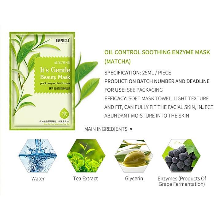 [ READY STOCK ]  Organic Fruit Matcha Lemon Pomegranate Strawberry Sheet Mask Anti Aging Jualan Murah Lotion Makeup Serum