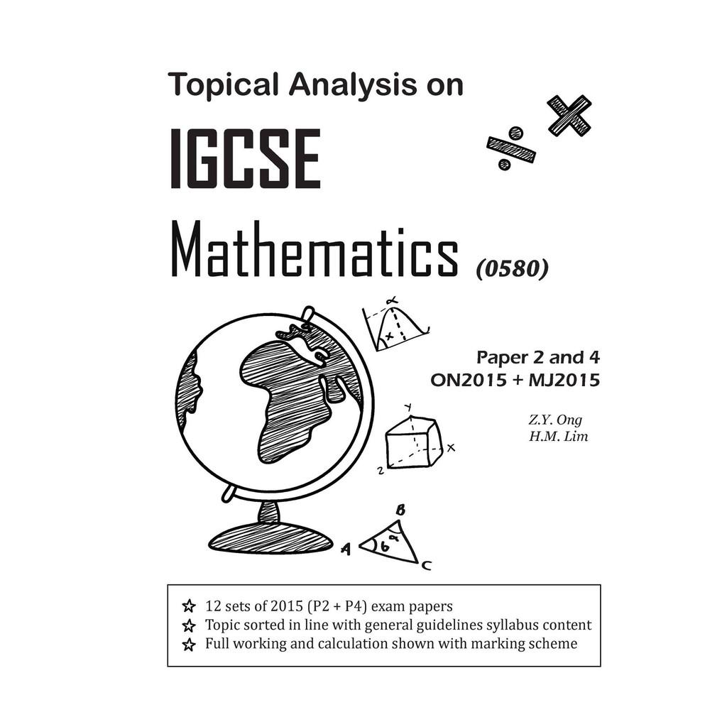 Topical Analysis on IGCSE Mathematics Revision Book