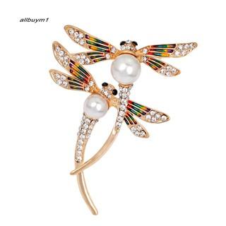 7c19757470c22 ABM1_Flying Dragonfly Brooch Pin Shiny Rhinestone Enamel Insect ...