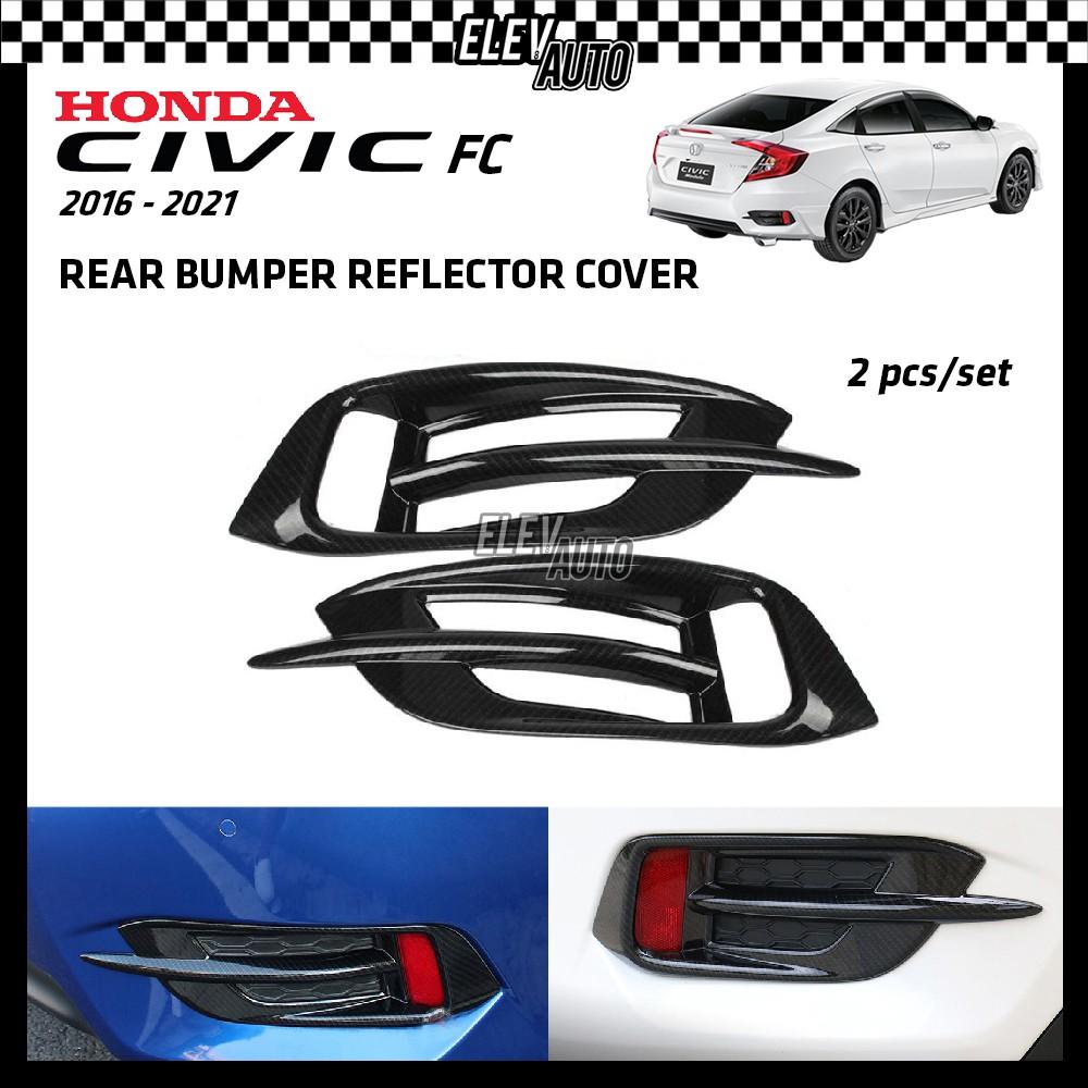 Rear Bumper Reflector Cover Honda Civic FC 2016-2021