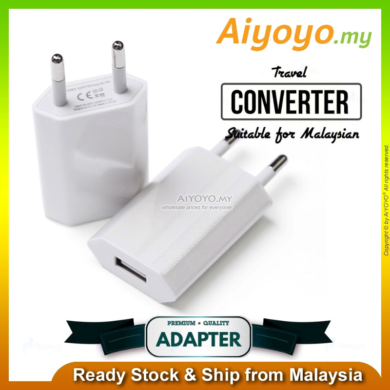 5V1A USB Adaptor Plug Socket Travel Charger AC Power Fast Charging Phone EU Standard US
