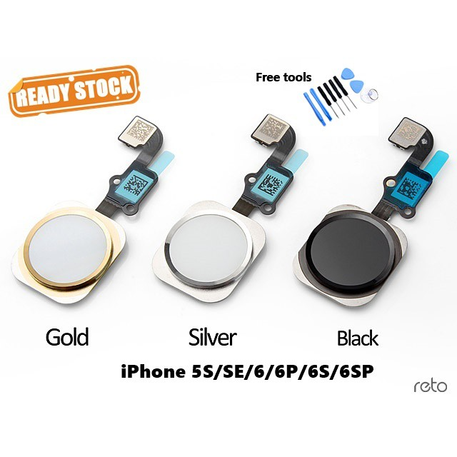 iPhone Home Button Without Fingerprint Sense For iPhone 5S SE 6 6S 6Plus  6SPlus (Free Tools)