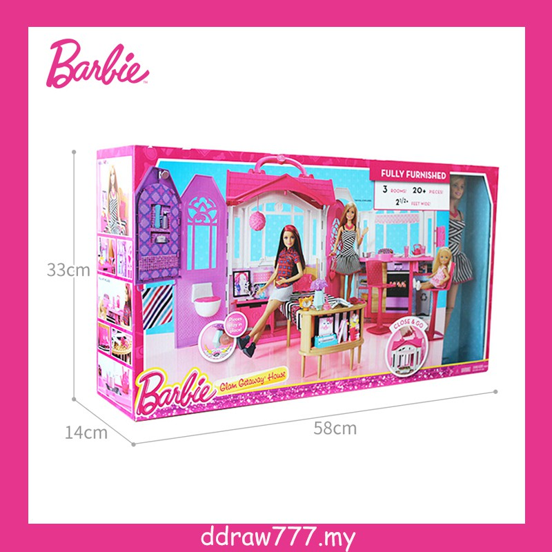 Barbie Barbie Princess Castle Girls Villa Shiny Vacation House Doll