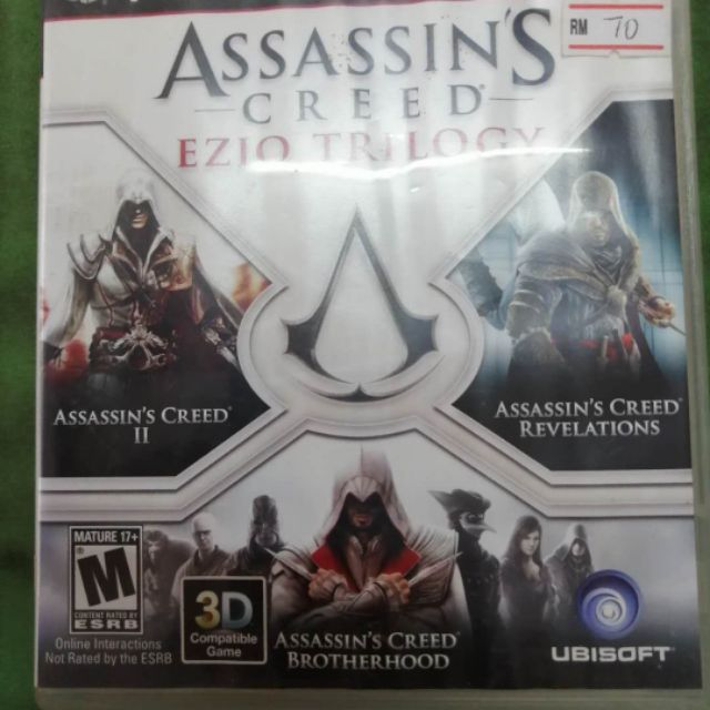 Ps3 Used Game Assassin Creed Ezio Trilogy Shopee Malaysia
