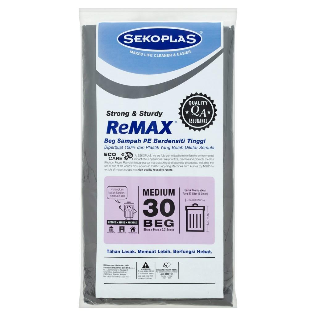 e654fc06b2d2 Sekoplas ReMAX HDPE Garbage Bags L (10 pcs)