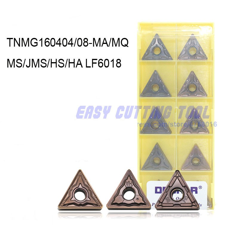 10 pcs TNMG160408-HA LF6018 Carbide Inserts insert For Cutting CNC STAINLESS
