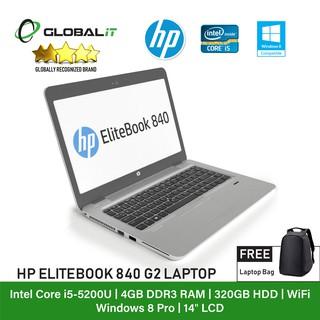 Refurbished Notebook) HP Elitebook 840 G2 Laptop / 14 inch