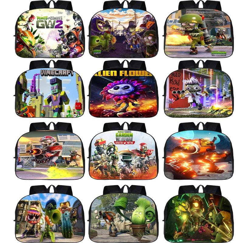 Plants vs zombies backpack Cartoon book bag Waterproof backpack 42*29*16CM