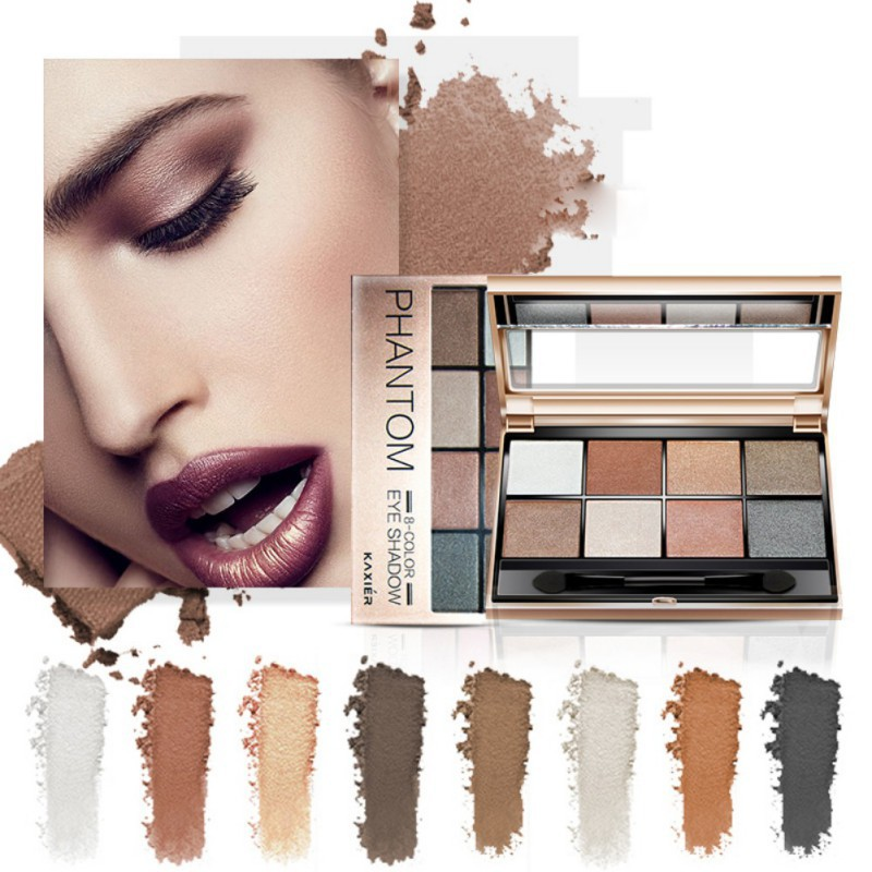8 Colors Eyeshadow Palette Beauty Makeup Shimmer Matte Long Lasting Waterproof Eye Shadow Powder Cosmetic