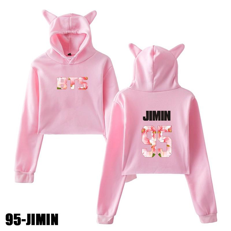 f96f00605f6 Women Teen Girls Cute Cat Ear Sweatshirt Crop Top Hoodies Long ...