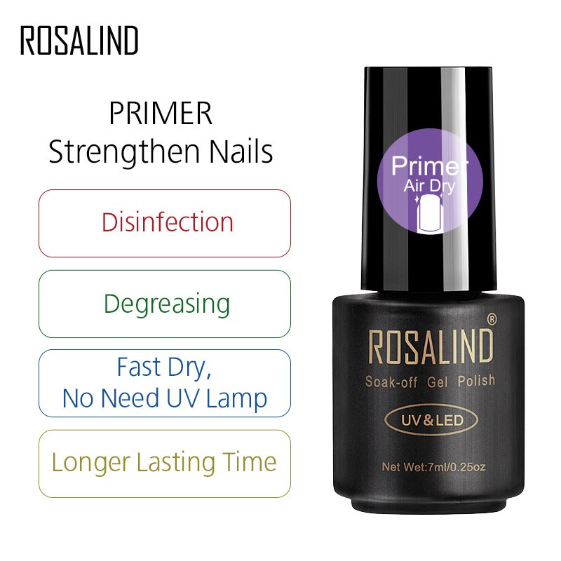ROSALIND Nail Polish 7ml Fast Dry Primer Nail Anastomotic equilibrium  solution