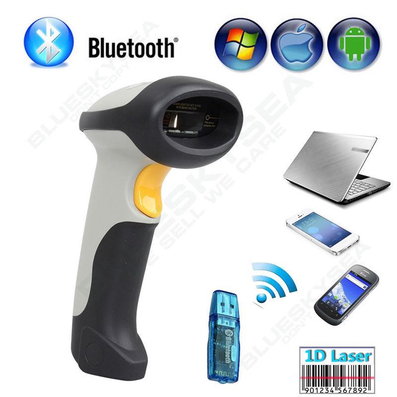 ALANDA CT10 Wireless Bluetooth Barcode Scanner Code Reader 4 IOS Android  Windows