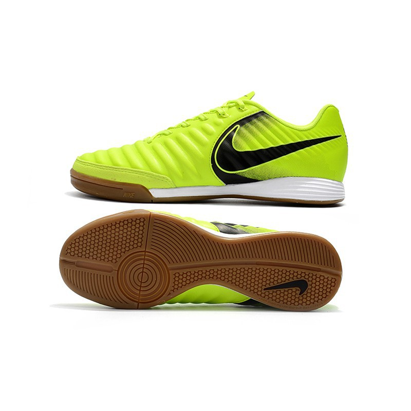 24eb9baaf ProductImage. ProductImage. Nike Tiempo Ligera IV IC yellow low top indoor  mens soccer football shoes ...