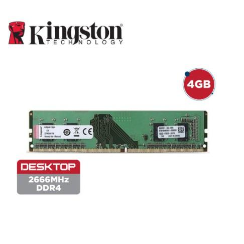 Kingston RAM DDR 4 - 2666MHz Non-ECC CL19 DIMM Desktop Memory (4GB/8GB)