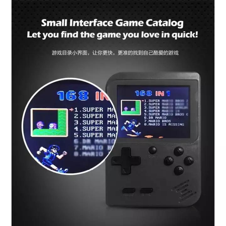 Mini Handheld Game Player Built in 168 Games
