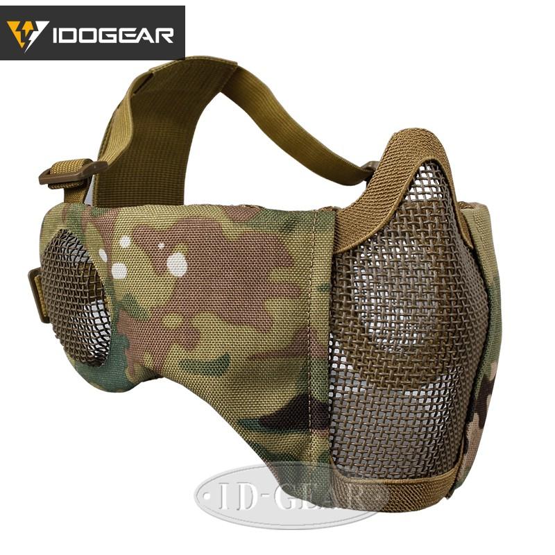IDOGEAR Full Face Mask Tactical Airsoft Mask Balaclava Mask MESH Hunting Mask
