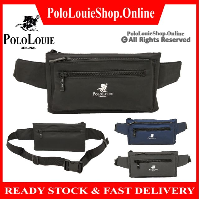 [READY STOCK] 🔥Original Polo Louie Men Fashion Waist Pouch WATERPROOF Crossbody Bag Sling Shoulder Bag