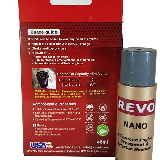 Revo Nano Advanced Engine Treatment & Friction Reducer
