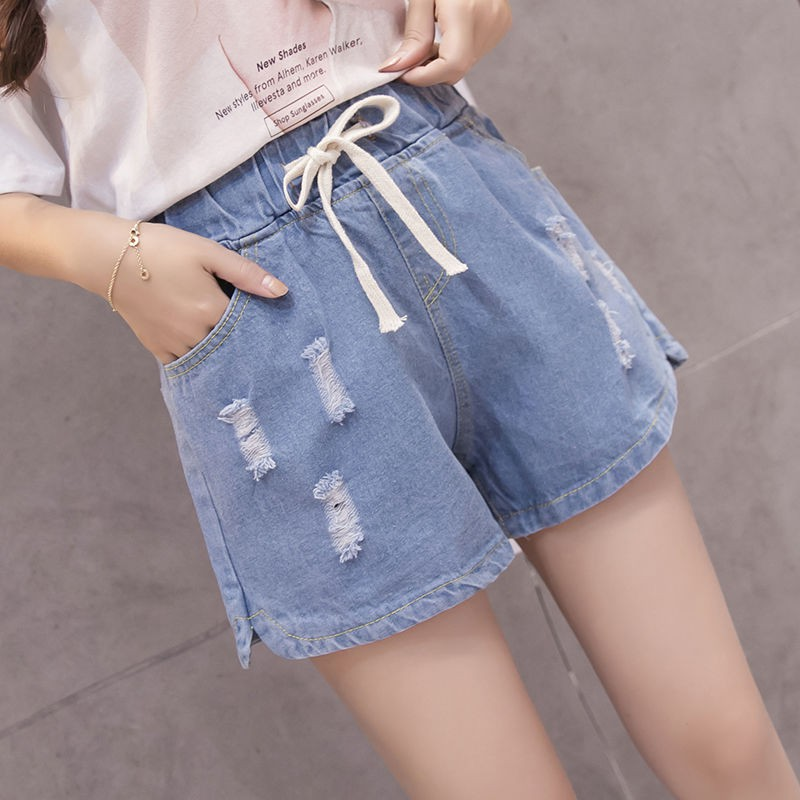 new style special discount best ❡Summer bull-puncher knickers female elastic waist loose fat mm the  plus-size women's leisure fertilizer show thin wide