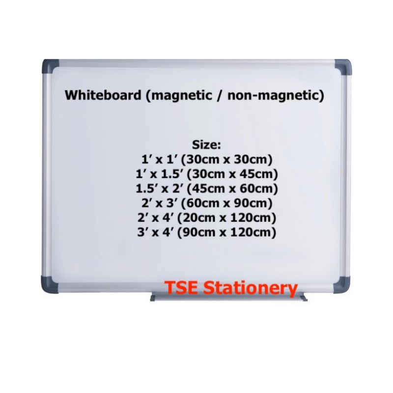 (Part 2) Magnetic / Non Magnetic White Board / Whiteboard (2' x 3' / 2' x 4' / 3' x 4')
