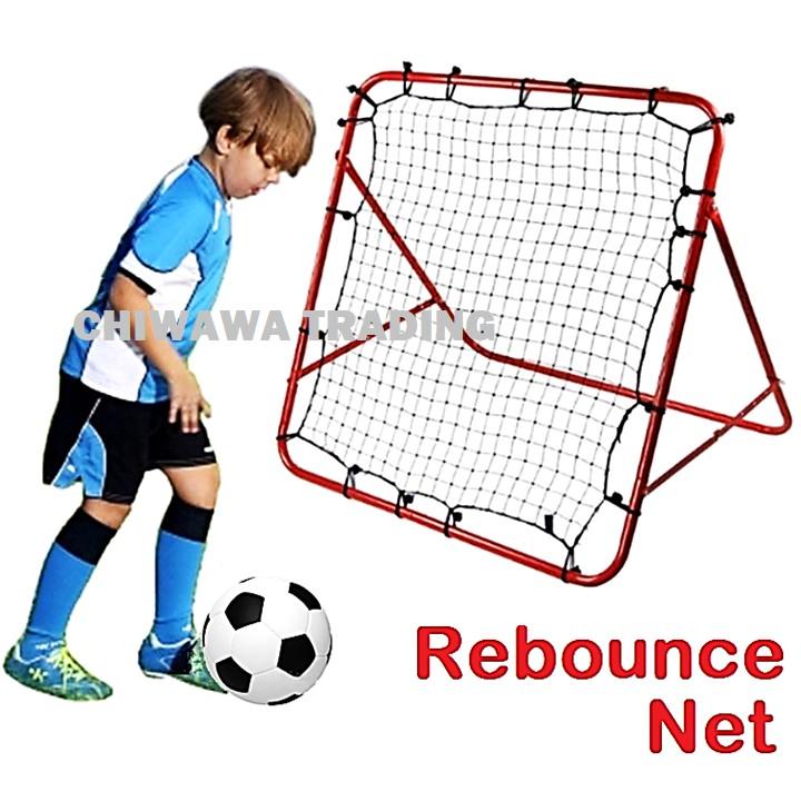 Baseball Soccer Football Rebound Net Adjustable Kickback Goal Target Mesh Training Aid Practice Tool