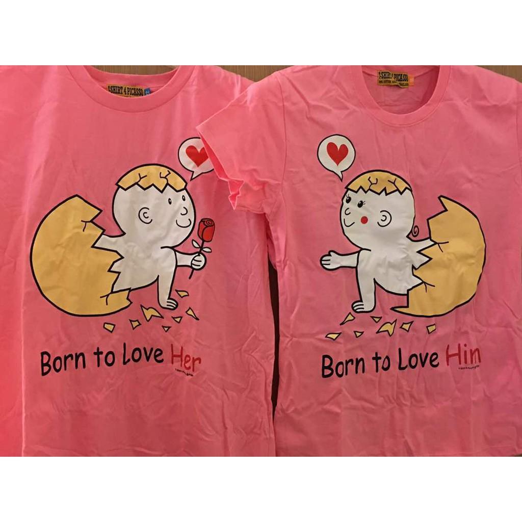 Couple T-shirts, Round Neck, Size L