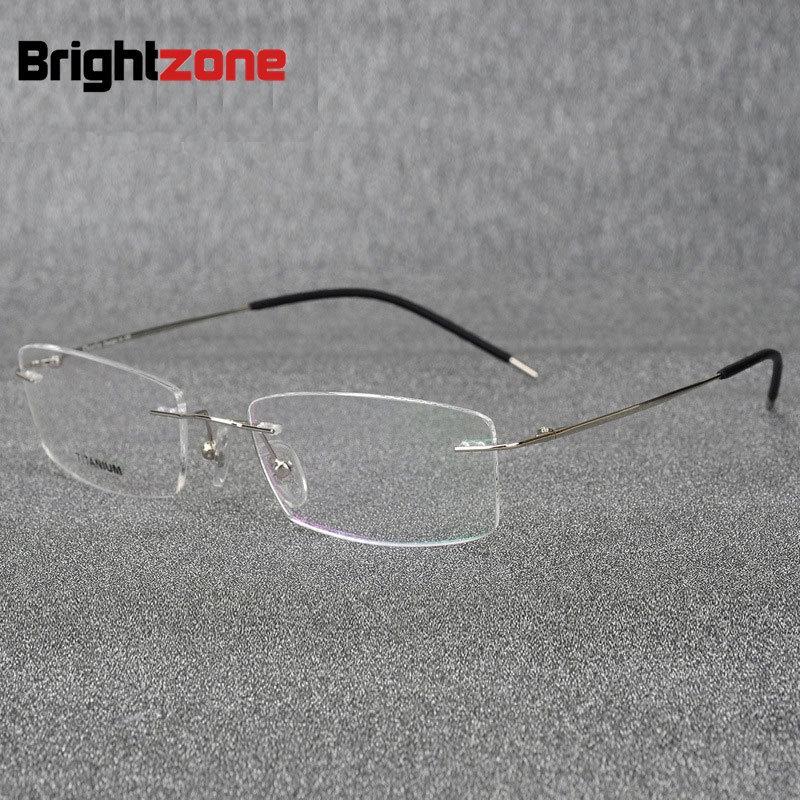 3617f1a05230 ProductImage. ProductImage. Light-weight Rimless Titanium Eyeglasses Frame  Titanium Alloy Optical Spectacles