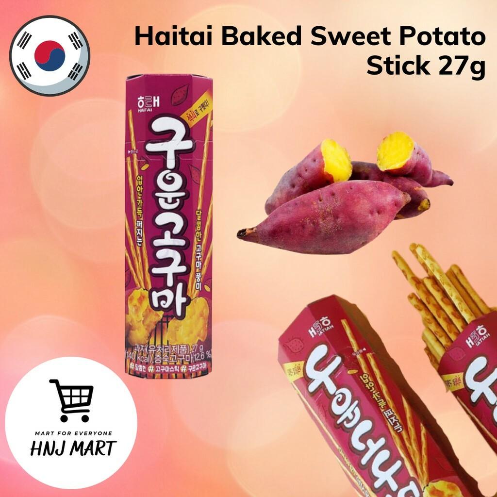 Korea Haitai Baked Sweet Potato Stick 27g Snack 韩国海太碳烤红薯条/红薯棒饼干/豆条休闲零食 27g