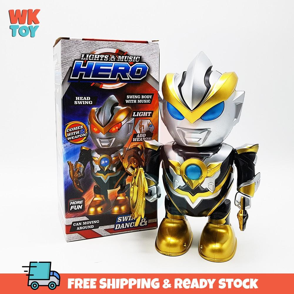 WKTOY Ultraman Ruebe Dance Robot Cool Light Music Toy